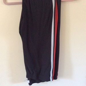 Women's Plus Size Leggings with red stripes